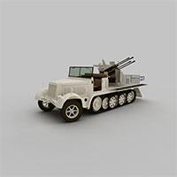 军事侦察车模型