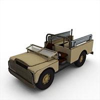 军用运兵车模型