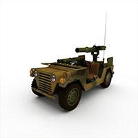 武装侦查车模型