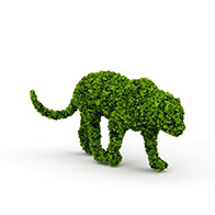 3D老虎园艺造型模型