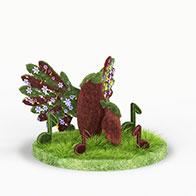 小鸟园艺造型3D模型