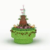 3D五一草造型模型