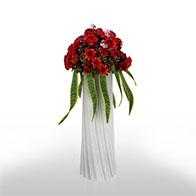 3D玫瑰花篮模型