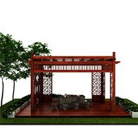 3D公园凉亭模型