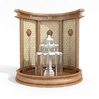 3D简约喷泉模型