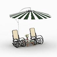 3D室外遮阳伞模型
