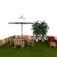 室外桌椅3D模型