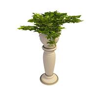 欧式花坛小品3D模型