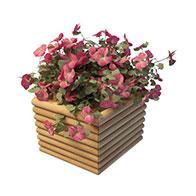 3D木头花箱模型