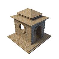 3D公园小品模型