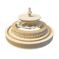 欧式喷泉3D模型