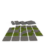 3D公园地砖模型