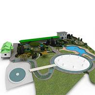 休闲别墅场景3D模型