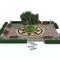 3D园林景观场景模型