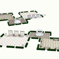 园林景观场景3D模型