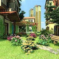 3D小区景观小景模型