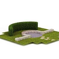 园林场景3D模型
