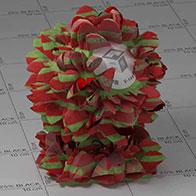 红色花vray材质
