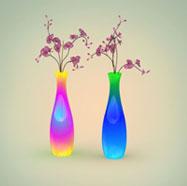 3D彩色花瓶灯模型