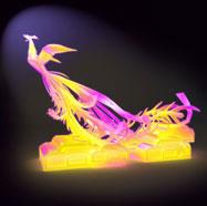 3D凤凰花灯模型