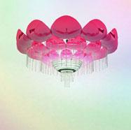 3D荷花水晶灯模型