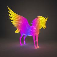 3D天马花灯模型