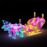 小鹿拉车花灯3D模型