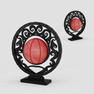 中式灯笼台灯3D模型