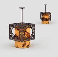 3D中式镂空吊灯模型
